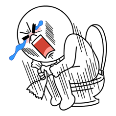 Moon Mad Angry Stickers 5