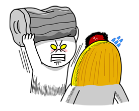 Moon Mad Angry Stickers 22