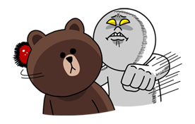 Moon Mad Angry Stickers 23