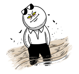 Moon Mad Angry Stickers 25