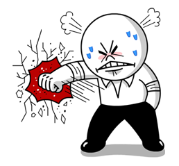 Moon Mad Angry Stickers 28