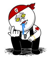 Moon Mad Angry Stickers 31