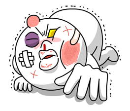 Moon Mad Angry Stickers 33
