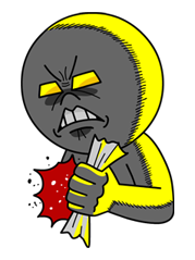 Moon Mad Angry Stickers 38