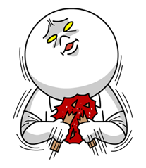 Moon Mad Angry Stickers 40