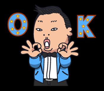 Psy Gangnam Style Stickers 27