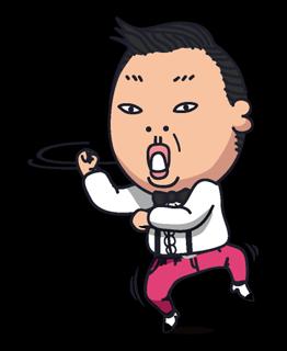 Psy Gangnam Style Stickers 2