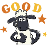 Shaun The Sheep Sticker 1