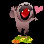 Mugsy In Love Sticker 7