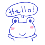 Small Frog Kero Sticker 2