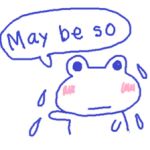 Small Frog Kero Sticker 5