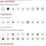 symbolslist