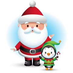 Waddles Holiday Stickers 2