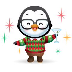 Waddles Holiday Stickers 4