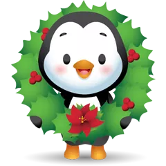 Waddles Holiday Stickers 6