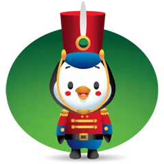 Waddles Holiday Stickers 10
