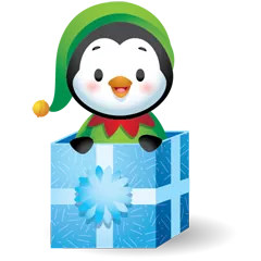 Waddles Holiday Stickers 20