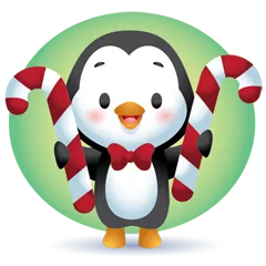Waddles Holiday Stickers 22