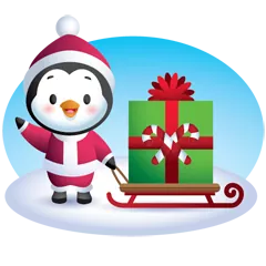 Waddles Holiday Stickers 28