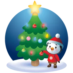 Waddles Holiday Stickers 29
