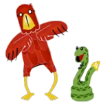 Eagle And Snake Sticker 1