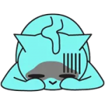 Blue Cat Sticker 5
