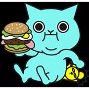 Blue Cat Sticker 22