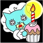 Blue Cat Sticker 26