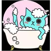 Blue Cat Sticker 28
