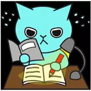 Blue Cat Sticker 32
