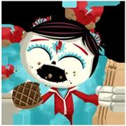 Día De Los Muertoons Sticker 8