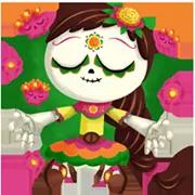 Día De Los Muertoons Sticker 10