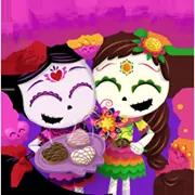 Día De Los Muertoons Sticker 19