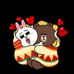Brown & Cony's Snug Winter Date Sticker 2