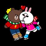 Brown & Cony's Snug Winter Date Sticker 4