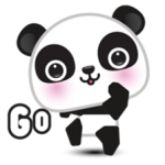 Go-Go Panda Sticker 1