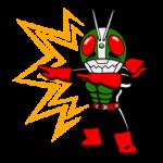Masked Rider Sticker 19