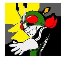 Masked Rider Sticker 21