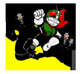 Masked Rider Sticker 27