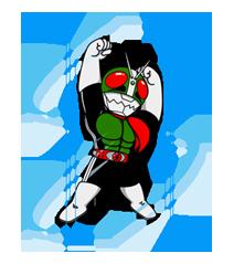 Masked Rider Sticker 42