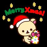 Anul Nou Rilakkuma Crăciun autocolant 15