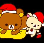 Rilakkuma क्रिसमस नए साल स्टीकर 16