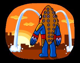 ULTRAMAN Heroes & Monsters Sticker 24