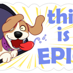 A Dog's World Sticker 24