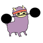 Little Ungu Llama Sticker 3