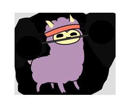 Little Purple Llama Sticker 3