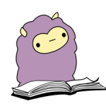 Little Purple Llama Sticker 4