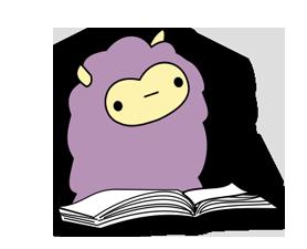 Little Purple Llama Sticker 4