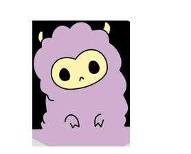 Little Purple Llama Sticker 6
