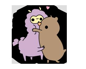 Little Purple Llama Sticker 7